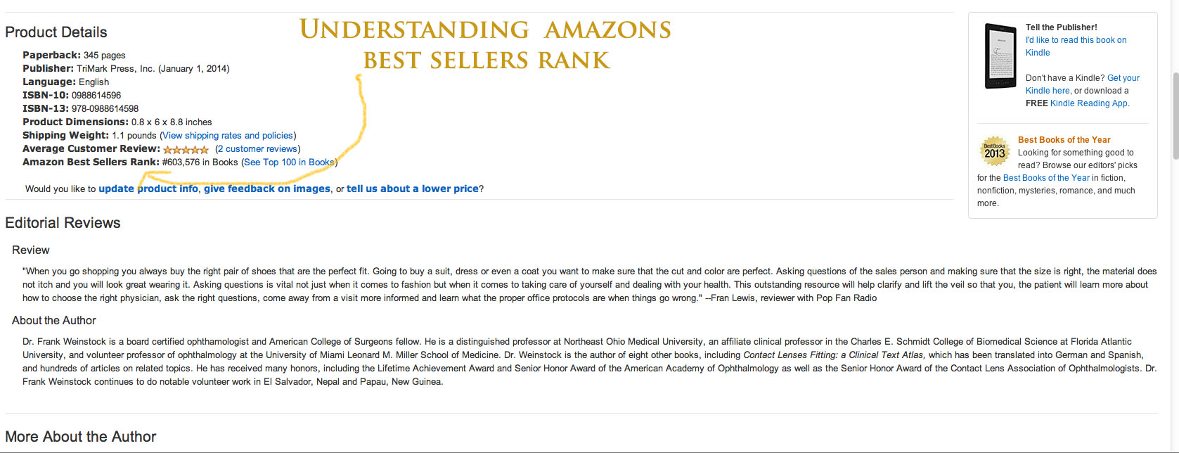 What do Amazon Best Sellers Ranks mean to authors